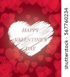 red dark happy valentine day... | Shutterstock .eps vector #567760234