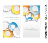 abstract vector banners with... | Shutterstock .eps vector #567770815