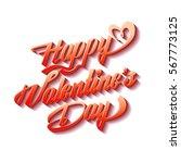happy valentine's day poster....   Shutterstock .eps vector #567773125