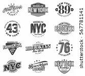 monochrome brooklyn  new york... | Shutterstock .eps vector #567781141