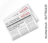newspaper. business news.... | Shutterstock .eps vector #567782635