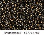 gold shining falling stars... | Shutterstock .eps vector #567787759