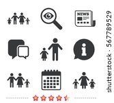 family with two children icon.... | Shutterstock .eps vector #567789529