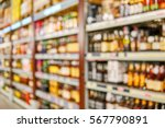 blurred high shelves with... | Shutterstock . vector #567790891