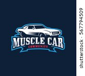 muscle car community logo | Shutterstock .eps vector #567794509