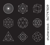 geometric shapes   set of 9... | Shutterstock .eps vector #567797839