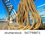 detail of a sailing boat | Shutterstock . vector #567798871