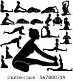 vector silhouettes of slim girl ... | Shutterstock .eps vector #567800719
