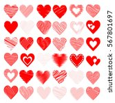 heart decoration for valentine...   Shutterstock .eps vector #567801697