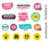 sale shopping banners. special... | Shutterstock .eps vector #567803671