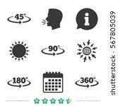 angle 45 360 degrees icons.... | Shutterstock .eps vector #567805039