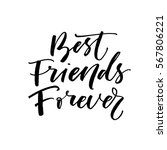 best friends forever postcard.... | Shutterstock .eps vector #567806221