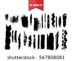 hand drawn brushstrokes and...   Shutterstock .eps vector #567808081