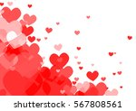 vector   red hearts on white... | Shutterstock .eps vector #567808561
