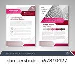 purple annual report brochure... | Shutterstock .eps vector #567810427