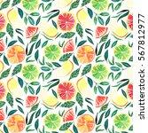 bright tasty juicy citrus... | Shutterstock . vector #567812977
