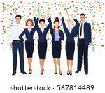 corporate business team... | Shutterstock . vector #567814489