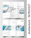 tri fold brochure business... | Shutterstock .eps vector #567815227
