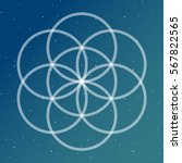 flower of life symbol on a... | Shutterstock .eps vector #567822565