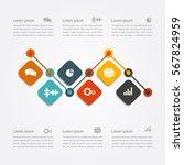infographic design template... | Shutterstock .eps vector #567824959