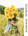 Great Sunflowers Bouquet On Th...