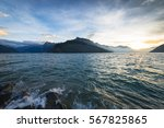 Alpine Landscape In The Lake....