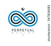 endless infinity loop... | Shutterstock .eps vector #567826081