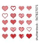 set of vector heart shapes.... | Shutterstock .eps vector #567827071