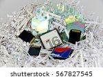 heap made by stripes of... | Shutterstock . vector #567827545
