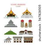 luang prabang  laos  landmarks... | Shutterstock .eps vector #567828505