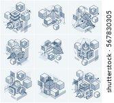 abstract vector backgrounds... | Shutterstock .eps vector #567830305