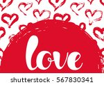 vector illustration with hearts ... | Shutterstock .eps vector #567830341