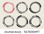 set of hand painted ink circles.... | Shutterstock .eps vector #567830497