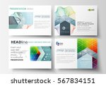 set of business templates for...   Shutterstock .eps vector #567834151