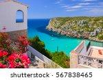 holiday villa overlooking cala... | Shutterstock . vector #567838465