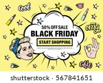 black friday 50  off sale start ... | Shutterstock .eps vector #567841651