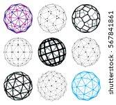 3d vector digital wireframe... | Shutterstock .eps vector #567841861