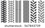 Set Of Tire Shapes Isolated On...