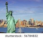 america usa new york cityscape... | Shutterstock . vector #56784832