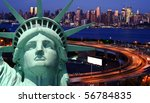 new york cityscape tourism concept photograph - stock photo