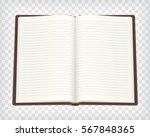 notebook  blank sketchbook mock ... | Shutterstock .eps vector #567848365