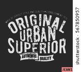t shirt print design. urban... | Shutterstock .eps vector #567850957