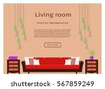 living room interior banner for ... | Shutterstock .eps vector #567859249