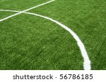 line on soccer field - stock photo