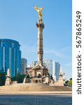 the angel of independence in... | Shutterstock . vector #567865249