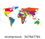 multi colored blank political... | Shutterstock .eps vector #567867781