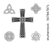 set of celtic knots. celtic... | Shutterstock .eps vector #567867871