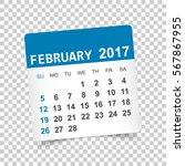 february 2017. calendar vector... | Shutterstock .eps vector #567867955