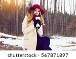 young  beautiful and stylish...   Shutterstock . vector #567871897