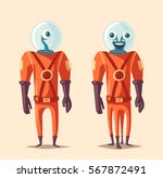 friendly alien. cartoon vector... | Shutterstock .eps vector #567872491